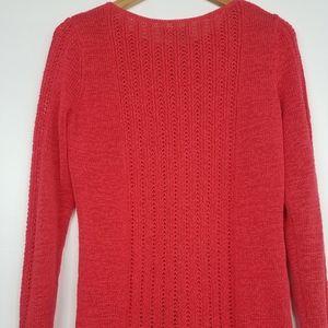 Rachel Zoe   Karla Openwork Knit Sweater Orange
